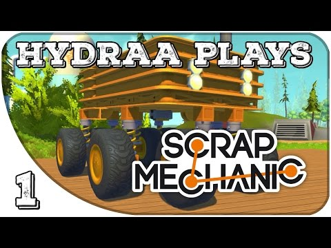 Building: Basic Monstertruck! Off-Road Suspension | Let's Play: Scrap Mechanic | #1