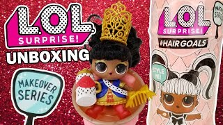LOL Surprise #HAIRGOALS UNBOXING | L.O.L. Opening Her Majesty Hair Goals Series 5 + Series 4 Wave 3