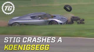 Stig Crashes Koenigsegg CCX (HQ) - Top Gear - Series 8 - BBC