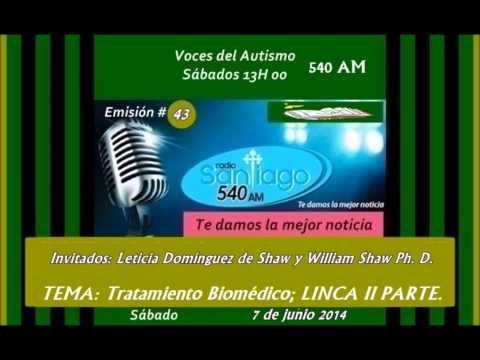 Radio SANTIAGO P43: William Shaw Ph. D. y Leticia Domínguez de Shaw al 2014.06.07