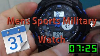 Set Digital Time/Date on SKMEI Sports Military Watch