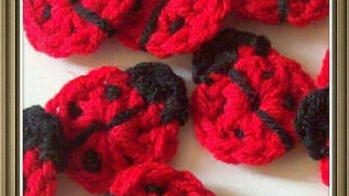 How to make a crochet ladybug applique