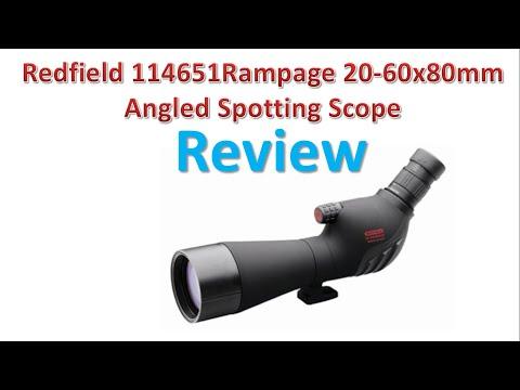 Redfield 114651Rampage 20-60x80mm Angled Spotting Scope Review | Best Spotting Scopes.