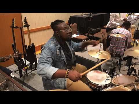 2018 Easter Convention drummers cam - Nathaniel Bassey champion