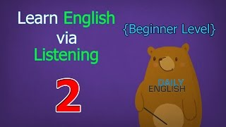 Learn English via Listening Beginner Level | Lesson 2 | Jessica