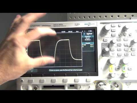 How to measure a capacitor with an oscilloscope.