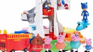 Hey Duggee Paw Patrol Toys Hey Duggee Peppa Pig Toys Paw Patrol Lookout Tower and Firetrucks