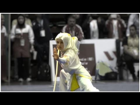 12th World Wushu Championships, Women Gunshu TUR Zeynep Akyuz 9.20