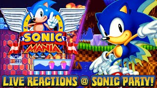 Sonic Mania 2017 REVEAL TRAILER LIVE REACTIONS FROM SONIC PARTY!