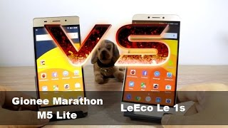 LeEco Le 1s vs Gionee Marathon M5 Lite - Speed, Benchmark and Performance test