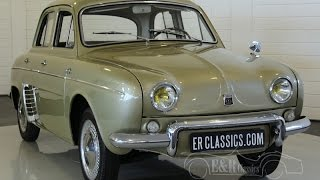 Renault Dauphine export modell 1964 discbrakes and 4 speed gearbox -VIDEO- www.ERclassics.com
