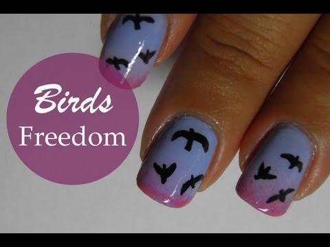 Bird nail art tutorial