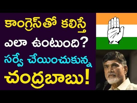 How Would Be With Congress-TDP Alliance ? Survey Conducted By Chandrababu.. ! || Taja30
