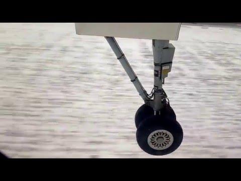 Посадка самолета в Астане / Landing in Astana