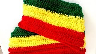 Crochet Rasta Scarf by Africancrab on Etsy