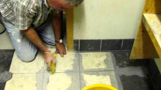 Installing Ceramic Tile Floor: Grouting & Finishing