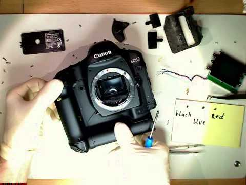 Try to fix broken shutter in Canon EOS 1 D mark II N       PART 1          motion lapse film