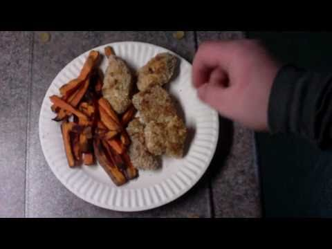 Oven Baked Chicken Nuggets & Sweet Potato Fries