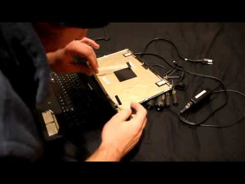 Laptop screen replacement / How to replace laptop screen Emachines E527 series Model PAWF5