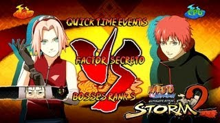Naruto Ultimate Ninja Storm 2 1080p Boss 3 Sasori Rank S | Chiyo Sakura vs Sasori Factor Secreto