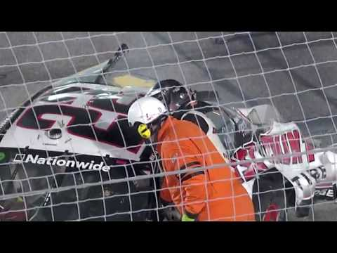 Brad Keselowski HUGE Crash / Carl Edwards Wins: 2010 Missouri-Illinois Dodge Dealers 250