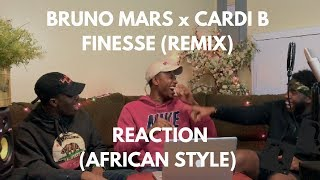 Download Lagu Bruno Mars - Finesse (Remix) [Feat. Cardi B] (REACTION African Style) Gratis STAFABAND