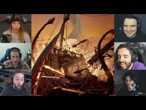 """Реакции Летсплейщиков"" на Кракена из Sea of Thieves"