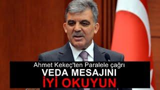 Ahmet Kekeç : Gül muhalefete mi düştü ki heyecanlanıyorsunuz!