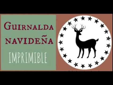 DIY Navidad: guirnalda imprimible gratis / Free printable Christmas garland