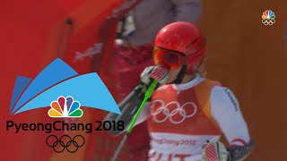 Switzerland wins inaugural Olympic Alpine skiing team event