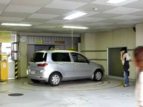Automatic car park in Japan