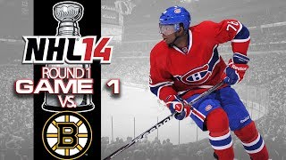 Let's Play NHL 14 - Round 1 Game 1 vs Boston Bruins