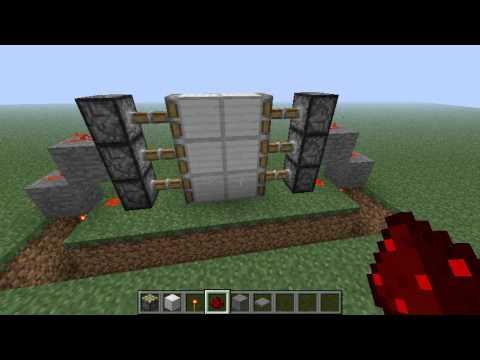 Minecraft Ako si urobiť sticky piston dvere
