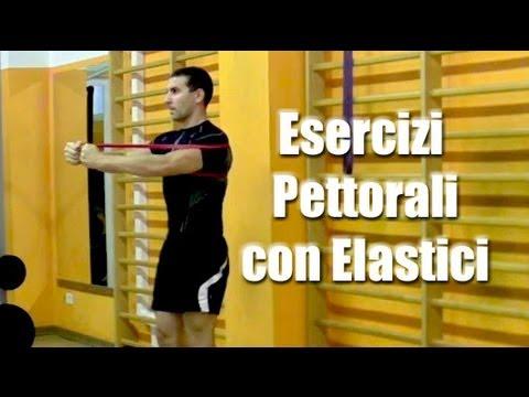 Esercizi Pettorali in Casa con Elastici - Personal Trainer #28