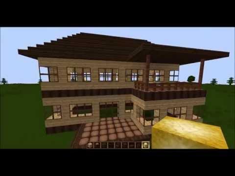 Minecraft Tutorial Wie baue ich ein schönes Haus Teil 1 Rohbau