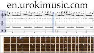 How to Play Guitar Enrique Iglesias Bailando Melody School Learn Class Course Tutorial Sheet Music T
