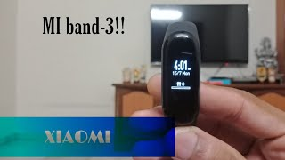 MI BAND-3 unboxing,and review..