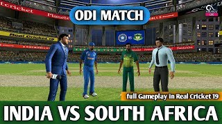 (INDIA VS SOUTH AFRICA) ODI MATCH IN REAL CRICKET 19 LIVE