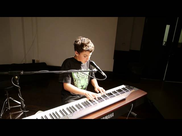 Leo (14) plays and sings at Spring Recital 2014