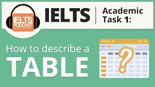 IELTS Academic Task 1 - How to Describe a Table