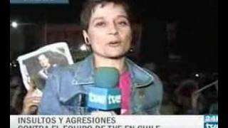 María José Ramudo (TVE) agredida en Chile (vídeo ENTERO)