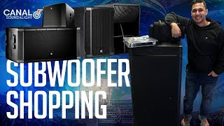 Shopping for (NEW) DJ SUBWOOFERs  | EV, QSC, DAS, RCF, JBL, CERWIN VEGA DEMO (Speaker Review)