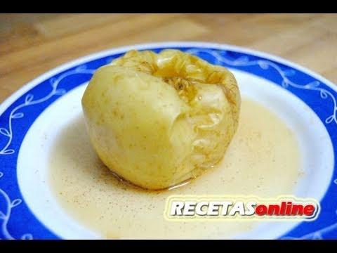 Manzana asada en el microondas - Recetas de cocina RECETASonline