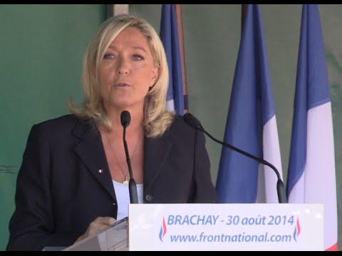 Discours de rentrée politique de Marine Le Pen, à Brachay