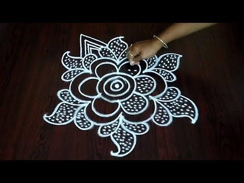 Very Simple Dots Dotted Design Rangoli || Latest Dot Style Muggulu || Fashion World
