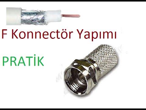 Uydu Kablosuna F Connectör Bağlantısının Yapımı (How to install F connector)