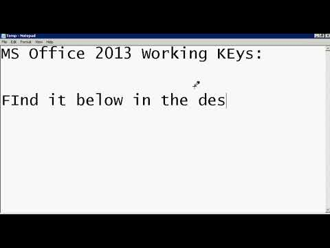 MS Office 2013 Working Product Keys