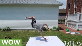 Watch This Guy Incredibly Learn To Back Flip In UNDER 6 hours!
