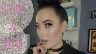 Glowy and Fresh Makeup Tutorial 2017 | lesleydoesmakeup
