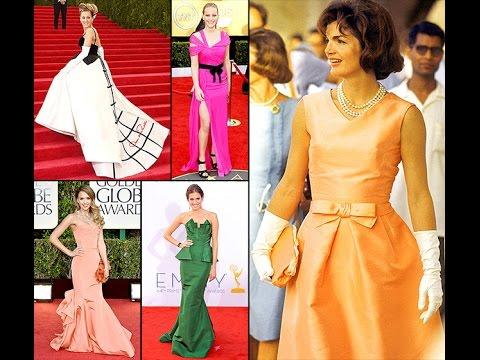 Celebrities in Gorgeous Oscar de la Renta Gowns
